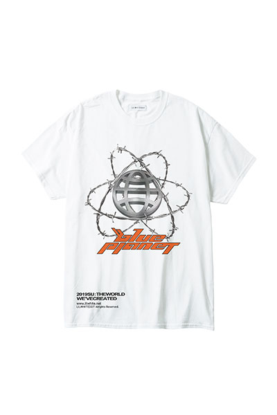 "LILWHITE(dot) LW-19SU-T01 ""PLANET"" TEE WHITE"