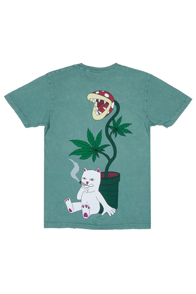 RIPNDIP Herb Eater Tee (Green Mineral Wash)