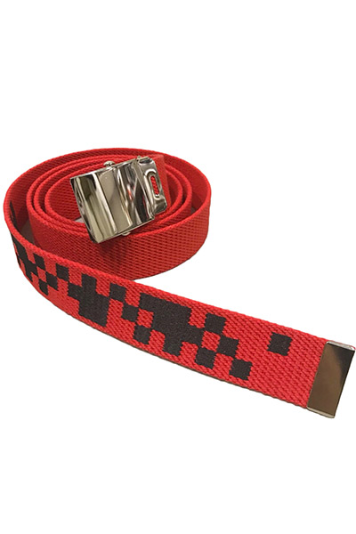 LILWHITE(dot) (リルホワイトドット) LW-18SU-A01 -DIVIDED- LONG BELT RED