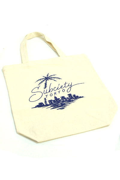 Subciety TOTE BAG-Beach- OFF WHITE