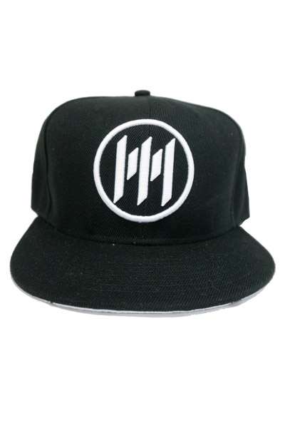 MEMPHIS MAY FIRE  Logo Black - White Brim Snapback