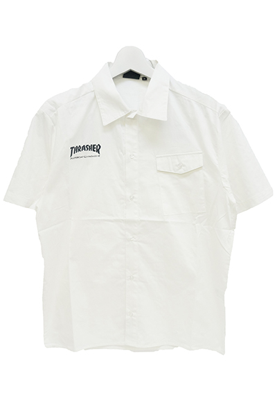 THRASHER TH5084S S/S SHIRT WHITE