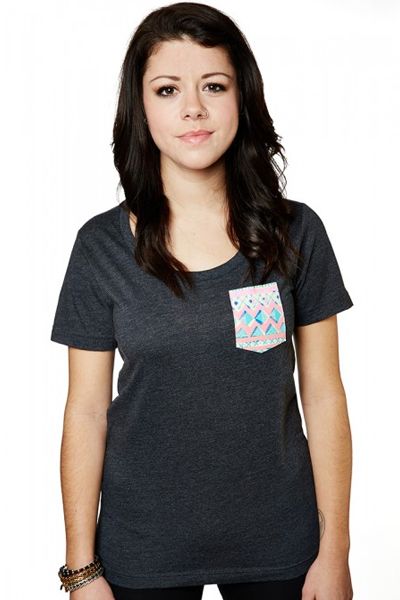 GLAMOUR KILLS GIRLS NATIVE VIBES POCKET TEE