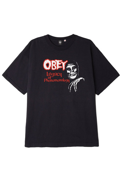 OBEY x Misfits Legacy of Phenome Heavyweight Box Tee BLACK