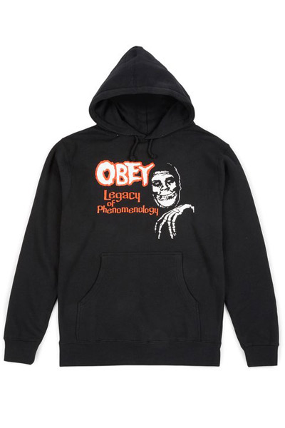 OBEY x Misfits Legacy of Phenome Pullover Hood BLACK