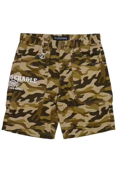 ROLLING CRADLE BIG POCKET SHORTS / Brown