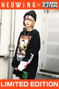 【ゲキクロ限定】 HEDWiNG Creepy-ART Big shilhouette L/S T-shirt Black