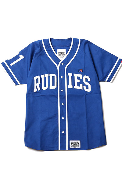 RUDIE'S NINEONE COLLEGE BASEBALL SHIRTS BLUE