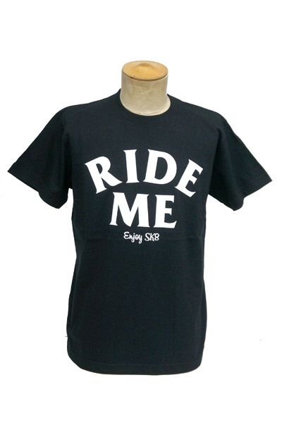 RideMe enjoy Logo TEE BLACK