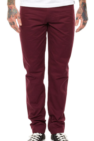 REBEL8 SLIM CUT BURGUNDY PANTS BURGUNDY