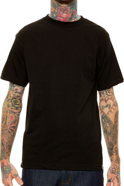 REBEL8 BASIC S/S TEE BLACK