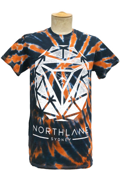 NORTHLANE Sphere Black w/ Orange Spider Tie Dye - T-Shirt