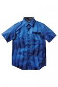 Zephyren (ゼファレン) STRIPE SHIRT -PAISLEY- BLUE