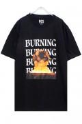 NOT COMMON SENSE BURNING TEE BLACK