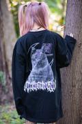 【予約商品】アマツカミ 闇猫/DARK CAT L/S T-shirts BLACK
