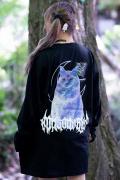 【予約商品】アマツカミ 闇猫/DARK CAT L/S T-shirts BLUE