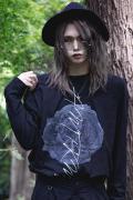 【予約商品】アマツカミ 枯花/DEAD FLOWER L/S T-shirts BLACK
