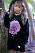 【予約商品】アマツカミ 枯花/DEAD FLOWER L/S T-shirts PINK