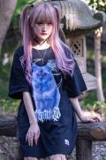 【予約商品】アマツカミ 闇猫/DARK CAT T-shirts  BLUE