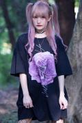 【予約商品】アマツカミ 枯花/DEAD FLOWER T-shirts PINK