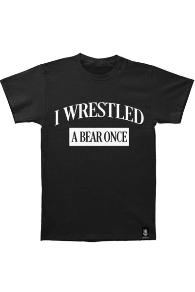 IWRESTLEDABEARONCE College Black - T-Shirt
