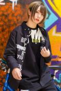 RIP DESIGN WORXX Rest in Punk メッセージシャツ BLACK