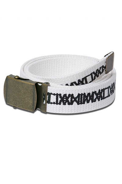 ANIMALIA ANAN18S-AC13 COTTON BELT #002 WHITE