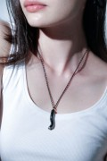 unclod - HIS CIGARETTE NECKLACE (GUNMETAL BLACK)