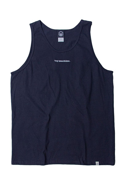 TOY MACHINE TMS19ST30 TOYMACHINE LOGO EMBROIDERY TANK TOP BLACK