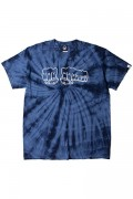TOY MACHINE TMS19ST29 FIST PRINT TIE-DYE SS TEE NAVY