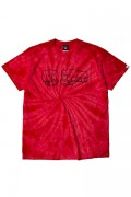 TOY MACHINE TMS19ST29 FIST PRINT TIE-DYE SS TEE RED