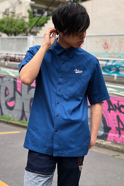 Subciety WORK SHIRT S/S-GLORIOUS- BLUE