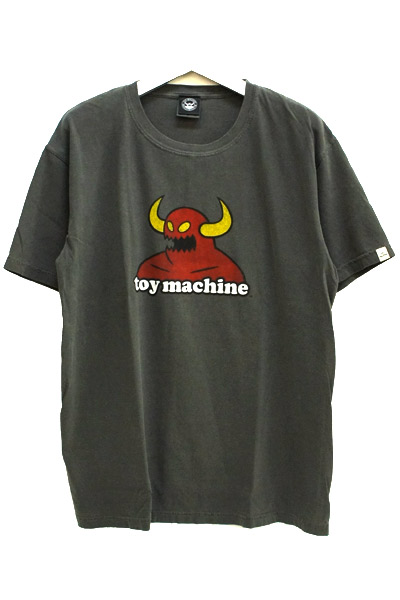 TOY MACHINE TMS18ST24 PIGMENT PRINT TEE BLACK