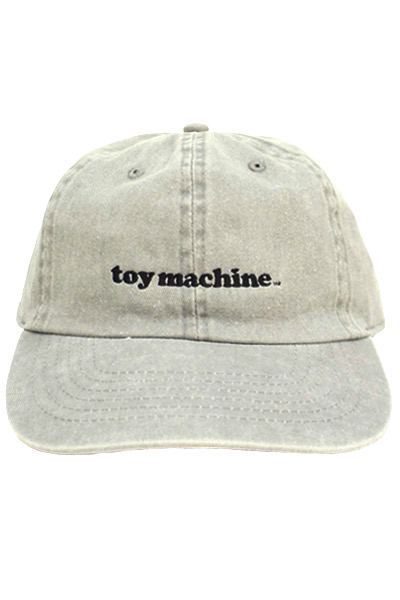 TOY MACHINE TMS18CP28 PIGMENT SIX PANEL CAP GRAY
