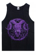 Gluttonous Slaughter (グラトナス・スローター) Inversion of Christ Tank Top Purple × Black