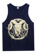 Gluttonous Slaughter (グラトナス・スローター) Inversion of Christ Tank Top Yellow-Beige × N