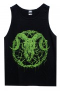 Gluttonous Slaughter (グラトナス・スローター) Inversion of Christ Tank Top Green × Black