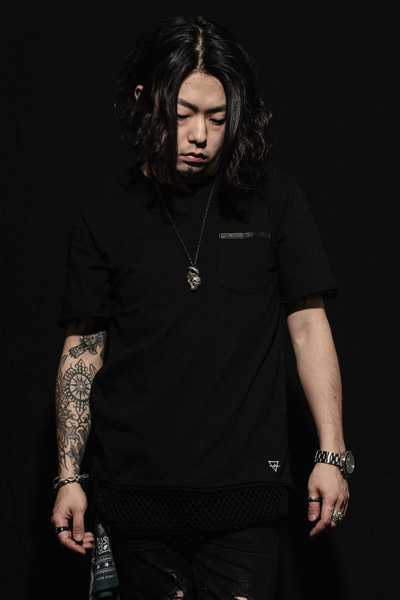 MUSIC SAVED MY LIFE (MSML) MESH LAYERED TEE BLACK