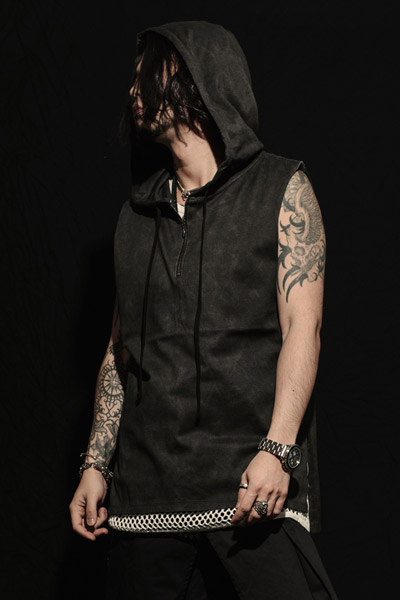 MUSIC SAVED MY LIFE (MSML) SLEEVELESS HOODIE BLACK