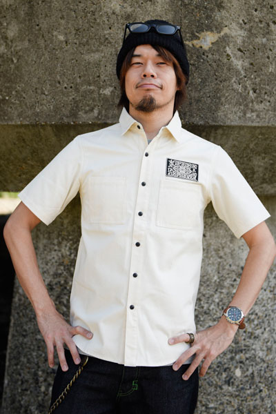 ZEPHYREN (ゼファレン) WORK SHIRT S/S -10-FEET WHI