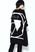 SILLENT FROM ME CRYPTIC -Square Sleeveless- BLACK/WHITE