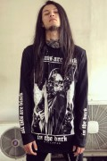 KILL STAR CLOTHING Black Cats Long Sleeve Top