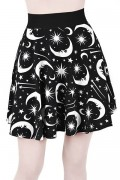 KILL STAR CLOTHING Under The Stars Skater Skirt