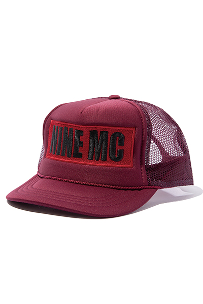 【予約商品】NineMicrophones MESH CAP-9MC BOX LOGO- BURGUNDY