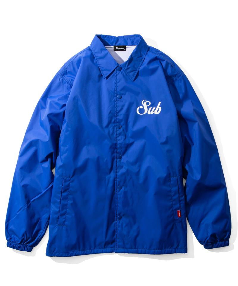 【予約商品】Subciety COACH JKT-MIDDLE LOGO- BLUE