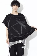 SILLENT FROM ME CRYPTIC -Square Sleeveless- BLACK/BLACK