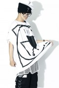 SILLENT FROM ME CRYPTIC -Square Sleeveless- WHITE