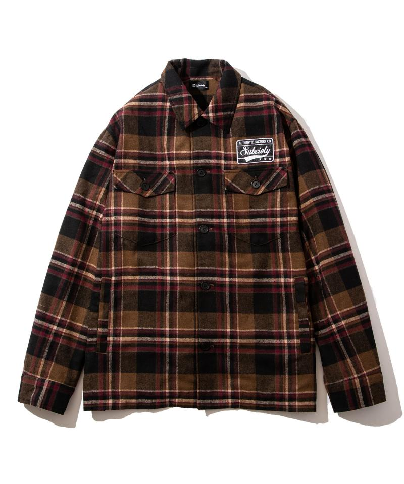 【予約商品】Subciety CPO EMBLEM SHIRT RED