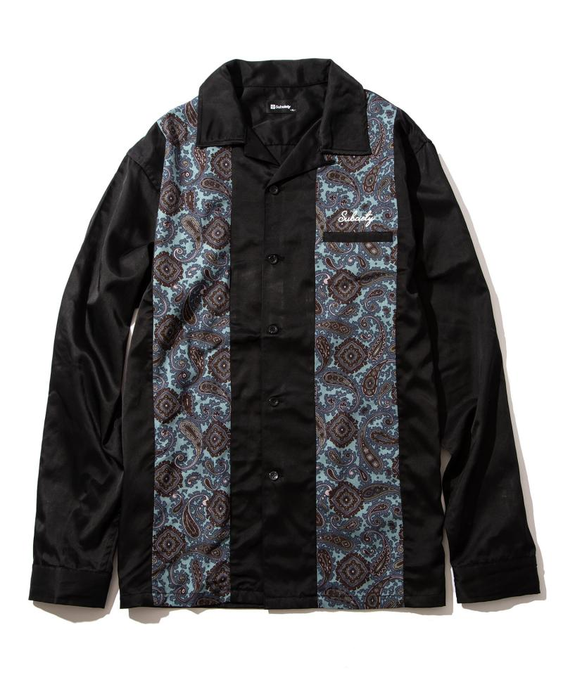【予約商品】Subciety PANEL SHIRT BLACK/BLUE