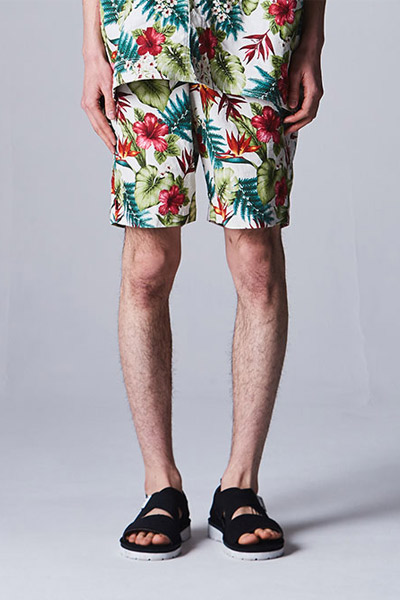 VIRGO VG-PT-288 U.N.V big aloha shorts WHITE